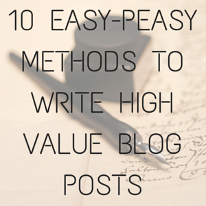 Write Quality Blog Posts