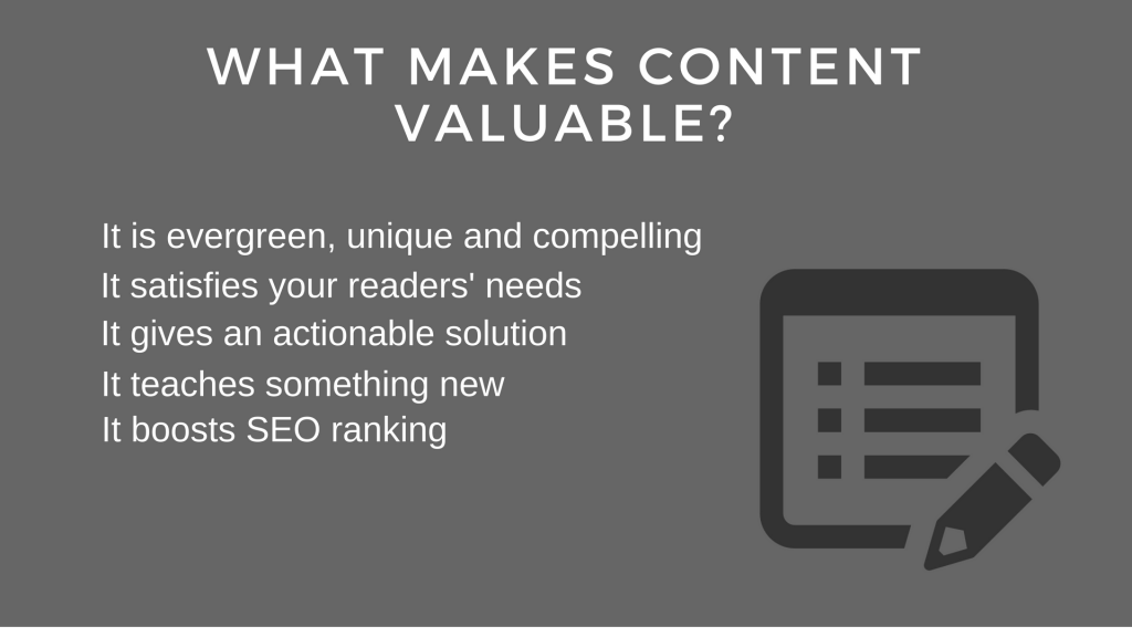 write valuable content