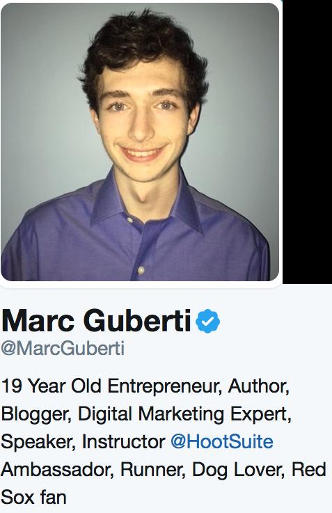 twitter bio example